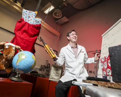 Santa and Science Work Together to Make Christmas Magic Happen